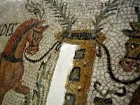 Mosaique romaine deux chevaux