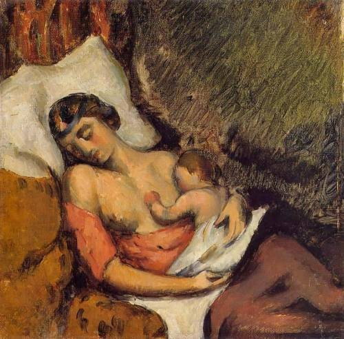1872 Hortense Breast Feeding Paul oil on canvas Private Collection